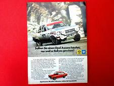 1973 orig. Werbung aus Zeitschrift  Automodell OPEL ASCONA