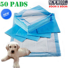 50x Puppy Dog Potty Training Pee Pads Pet Cat Super Absorbent Indoor Toilet