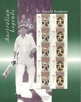 Australia Post Decimal Sheetlet - 1997 - AUS Legend - Sir Donald Bradman - MNH