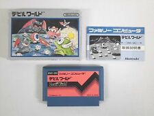 Devil World -- Boxed. Famicom, NES. Japan game. Work fully.
