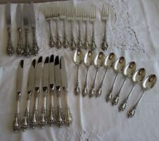 "Lunt Sterling Flatware Set ""Eloquence"" Pattern 27 pieces No Monogram"