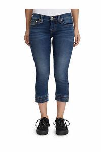 True Religion Femmes Jeans Capri Jogging Taille 24 Nwt Paradis Chutes Lavage
