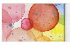 Abstract Watercolor Rainbow Circles Pattern Yoga Mat