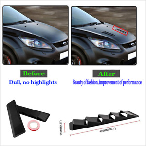 2Pc Hood Vent Air Flow Intake Side Scoop Hood Cover Decorative For Car SUV Truck