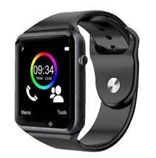Reloj Inteligent Bluetooth Podómetro Con tarjeta SIM TF Cámara color NEGRO