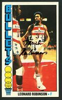 Leonard Truck Robinson #104 signed autograph auto 1976-77 Topps Basketball Card