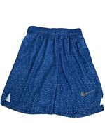 Nike Just Do It Youth Boy's Blue Athletic Basketball Shorts Size Medium