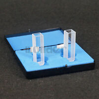 2 Pcs 10mm Path Length JGS1 Quartz Cuvette Cell With Lid For Spectrophotometers