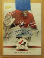 2014 Upper Deck  Team Canada Zack Fucale Autograph Draft Montreal Auto