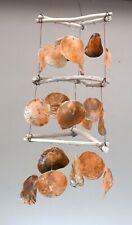 Unusual Hand Made Capiz Shell Giant Orange Shell Wind Chime Wind chime Mobile