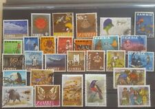 ZAMBIA 28 different stamps