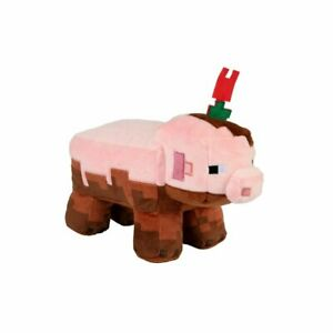 Official Jinx Minecraft Earth Adventure Muddy Pig Plush Toy NEW