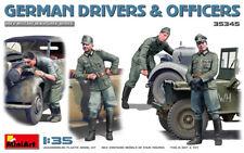 German Drivers & Officers, Plastic model kit (4 Figures) 1/35 MiniArt  35345