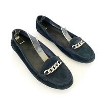 Vionic Mesa Loafer Navy Blue Suede Moccasins Flats Womens Size 9.5
