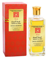Ferhat El Nisa 95ml Perfume Oil/Attar by Swiss Arabian Floral Rose Spices Musk