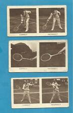 Original Godfrey Phillips Cigarette Cards - LAWN TENNIS - 1930
