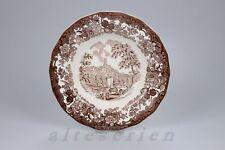 Suppenteller D 23 cm Palissy Avon Scenes braun