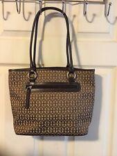 Giani Bernini Brown Signature Logo Tote Pocketbook Purse Handbag Bag