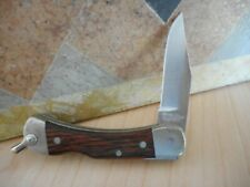 Vtg SChrade+ Uncle Henry LB1 Folding Pocket Knife Lockback Rosewood Handle USA