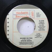 Rock 45 Stevie Nicks - Rooms On Fire / Alice On Modern Records
