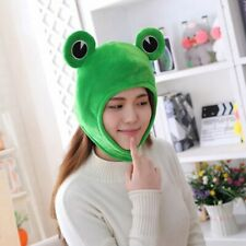 Plush Frog Hat Dress Up Hat Cosplay Costume Headgear Cartoon Animal Warm Cap