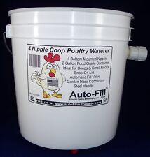 2 Pack -Automatic Hanging Chicken Waterer 4 Nipples 2 Gal Garden Hose Connection