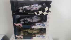 Rare Stewart GP Ford SF1- SF3 1997-1999 3 Car set 1:18 Barrichello & Herbert