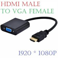 HDMI Male IN to SVGA VGA Female OUT Converter Cable Adaptor Black for PC DVD TV