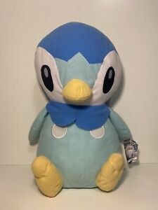 "Nintendo Pokemon 15"" Piplup Plush WITH TAG Blue White Penguin Toy Factory"
