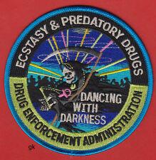 DEA ECSTASY ECSTACY PREDATORY DRUGS POLICE DRUG ENFORCEMENT ADMINISTRATION PATCH