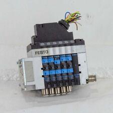 FESTO CPV10 6 Valve Pneumatic Solenoid Block