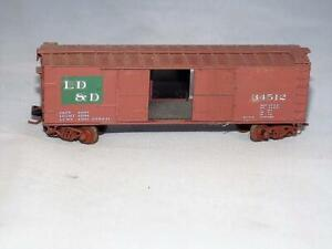 N Scale Kadee LD & D 34512 50' Box Car W/ Sliding Doors & Weathered Pizza Wheels