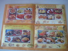 2017 India Set of 4 Miniature Sheets on Indian Cuisine (Gastronomy) - MNH