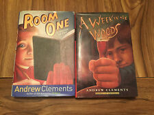 Andrew Clements Lot Of 2 Hb Books Room 1 & Weekend in the Woods