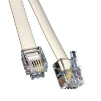 10m Meter RJ11 Cable ADSL DSL BT Broadband Modem Internet Phone Plug Lead