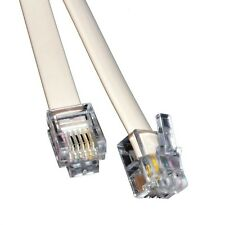 10m Meter RJ11 Cable ADSL DSL BT Broadband Modem Internet Phone Plug Lead