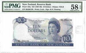 New Zealand 1967-68 $10 P166a PMG 58 EPQ - Quite Scarce!