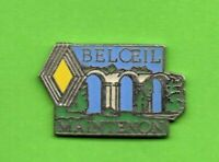 Pin's lapel pin pins Car Auto Garage RENAULT  BELOEIL MAINTENON Pont Ancien logo