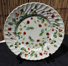 Vintage James Kent Strawberries & Butterflies Dinner Plate. 25cm Diam. VGC