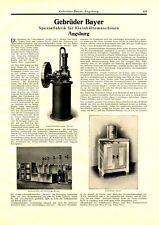 Kältemaschine Bayer Augsburg XL Reklame 1927 Kühlschrank Werbung Bavaria Polaris