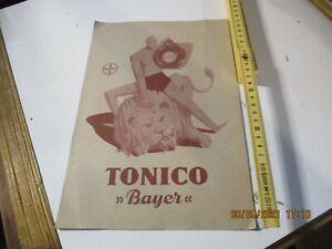 Carton Publicitaire CM 20x30 Tonique Bayer D'Origine Années 50