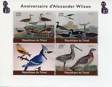 Chad 2018 CTO Alexander Wilson Ornithologist 4v M/S Natural History Birds Stamps