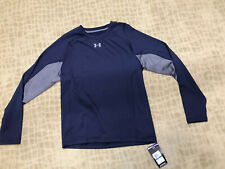 UNDER ARMOUR COLDGEAR FITTED TRAINING SHIRT NAVY/GRAY SZ XL NWT