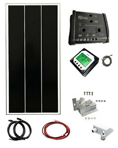 100W 130w solar panel kit 12v battery charger motorhome 20A dual controller
