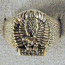 1 DELUXE RIDE FLYING EAGLE SILVER BIKER RING BR92 mens NEW jewelry RINGS EAGLES