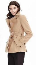 NWT Banana Republic Melton Wool Short Trench Coat Jacket 6P / 6 Petite