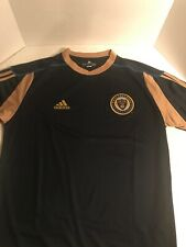 Adidas Philadelphia Union Climalite Polo Shirt Jersey Soccer Blue Size L