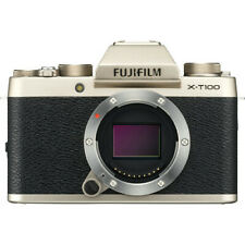 FUJIFILM X-T100 Mirrorless Digital Camera (Body Only) 24.2 MP 4K, CHAMPAGNE GOLD
