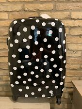 Pottery Barn Emily And Meritt Hard Sided Polka Dot Carry On Spinner Suitcase