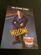1996-97 New Jersey Nets Basketball Pocket Schedule McDonald's Version